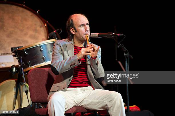 Carlos Nunez performs on stage during Festival del Millenni at Palau De La Musica on December 30 2014 in Barcelona Spain