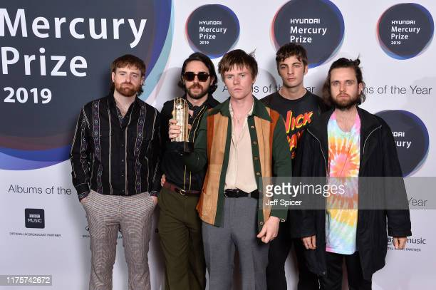 Carlos O'Connell, Conor Curley, Conor Deegan III, Grian Chatten and Tom Coll of Fontaines D.C. Attend the Hyundai Mercury Prize: Albums of the Year...