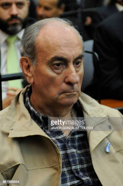 Carlos Octavio Capdevilla nicknamed 'Tommy' during Argentina's military dictatorship is pictured during his sentencing hearing in Buenos Aires on...