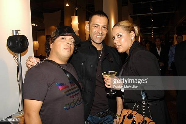 Carlos Ortiz Eduardo Lucero and Gabrielka Tamayo attend Angeleno's 7th Anniversary at HD Buttercup on September 8 2006 in Los Angeles CA