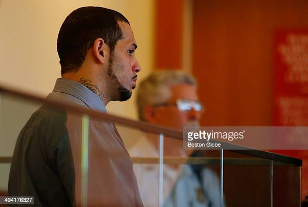 Carlos Ortiz is seen at his arraignment hearing at Fall River Superior Court Tuesday May 27 2014 on charges of first degree murder in connection with...