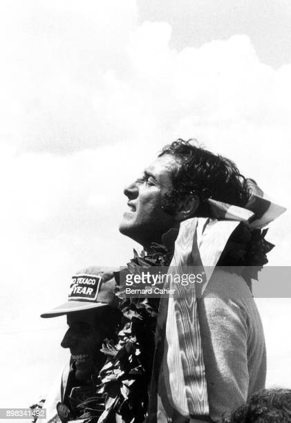 Carlos Pace, Brabham-Ford BT44B, Grand Prix of Brazil, Interlagos, 26 January 1975. An emotional victory for Carlos Pace in his home Grand Prix, his...