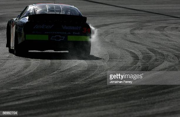 Carlos Pardo drives the Telcel Chevrolet during practice for the NASCAR Busch Series Telcel-Motorola 200 on March 3, 2006 at Autodromo Hermanos...