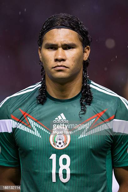 Carlos Peñ–a during a match between Costa Rica and Mexico as part of the CONCACAF Qualifiers at National Stadium on October 15 2013 in San JosŽ Costa...