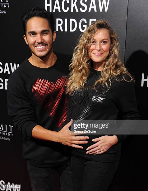 Carlos Pena Jr and Alexa Vega arrive at the screening of Summit Entertainment's Hacksaw Ridge at Samuel Goldwyn Theater on October 24 2016 in Beverly...