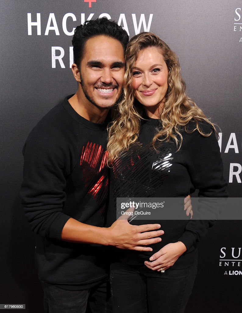 Carlos Pena Jr. and Alexa Vega arrive at the screening of Summit Entertainment's 'Hacksaw Ridge' at Samuel Goldwyn Theater on October 24, 2016 in Beverly Hills, California.