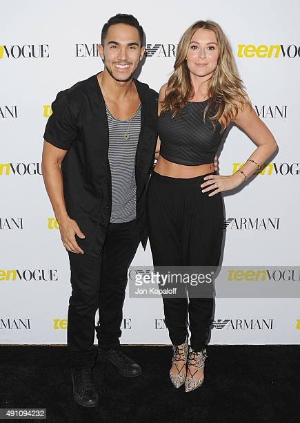 Carlos Pena Jr and wife Alexa Vega arrive at Teen Vogue's 13th Annual Young Hollywood Issue Launch Party on October 2 2015 in Los Angeles California