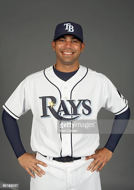 Carlos Pena of the Tampa Bay Rays poses during Photo Day on February 20, 2009 at the Charlotte County Sports Park in Port Charlotte, Florida.