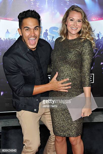 Carlos PenaVega and Alexa PenaVega arrive at the Premiere Of Pure Flix Entertainment's 'Hillsong Let Hope Rise' at Mann Village Theatre on September...