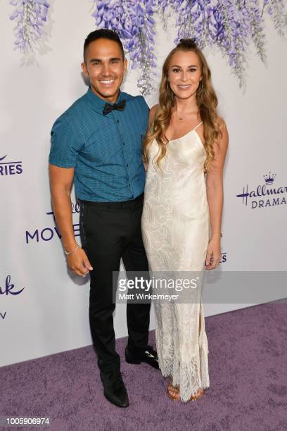 Carlos PenaVega and Alexa PenaVega attend the 2018 Hallmark Channel Summer TCA at Private Residence on July 26 2018 in Beverly Hills California