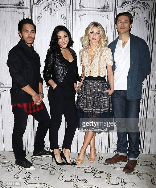 Carlos PenaVega Vanessa Hudgens Julianne Hough and Aaron Tveit attend AOL Build Speaker Series with Julianne Hough Vanessa Hudgens Aaron Tveit And...
