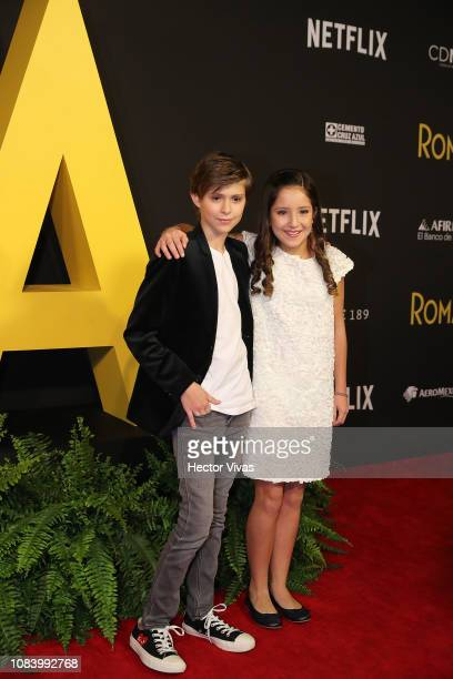 Carlos Peralta and Daniela Demesa during the premiere of the Netflix movie Roma at Cineteca Nacional on December 18 2018 in Mexico City Mexico