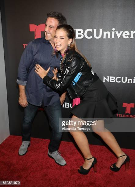 Carlos Ponce and Carolina Miranda attend the NBCUniversal International Offsite Event at LIV Fontainebleau on November 9 2017 in Miami Beach Florida
