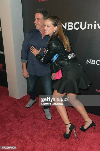 Carlos Ponce and Carolina Miranda attends the NBCUniversal International Offsite Event at LIV Fontainebleau on November 9 2017 in Miami Beach Florida