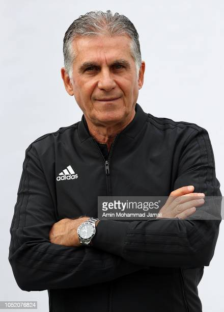 Carlos Queiroz Head coach and manager of Iran looks on during the Iran Training Session on October 13 2018 in Tehran Iran