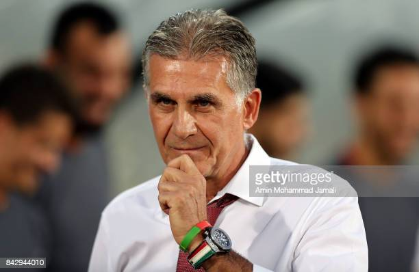 Carlos Quieroz head coach of Iran looks on during FIFA 2018 World Cup Qualifier match between Iran v Syria on September 5 2017 in Tehran Iran