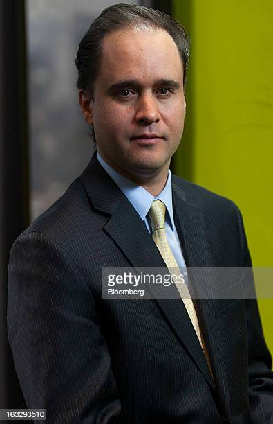 Carlos Ramirez president of Consar Mexico's pension fund regulator sits for a photo during an interview in Mexico City Mexico on Thursday March 7...