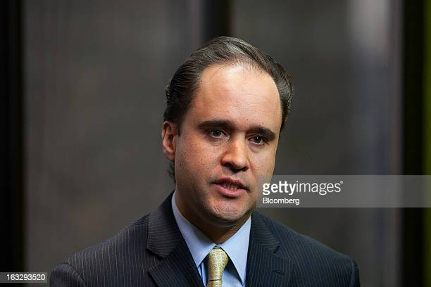 Carlos Ramirez president of Consar Mexico's pension fund regulator speaks during an interview in Mexico City Mexico on Thursday March 7 2013...