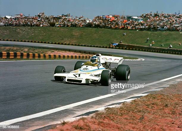 Carlos Reutemann in a Brabham in the Brazilian GP Sao Paulo Brazil 1973