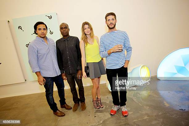 Carlos Rivera Quam Odunsi Christina Stockton and Josh Gibson attend Depart Foundation preview and reception celebrating the first Los Angeles...