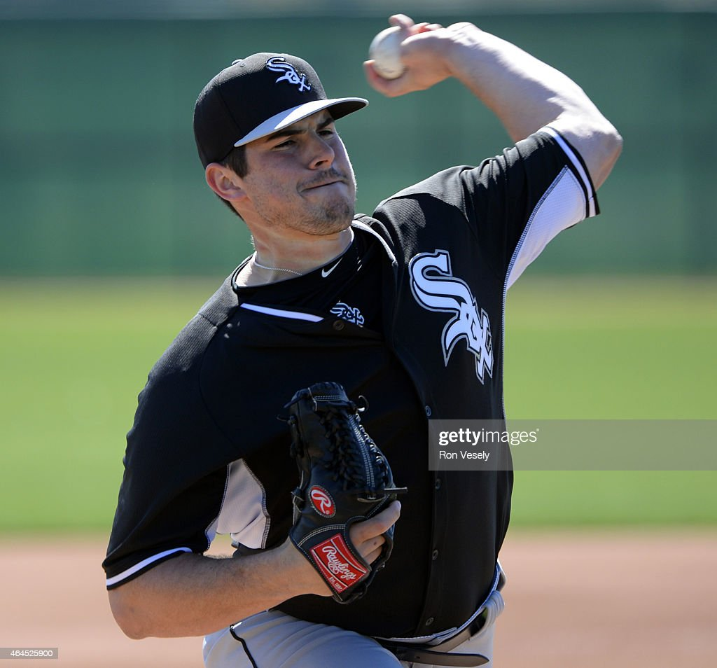 Carlos Rodon #80 of the Chicago White Sox pitches during spring training workouts on February 24, 2015 at The Ballpark at Camelback Ranch in Glendale, Arizona.
