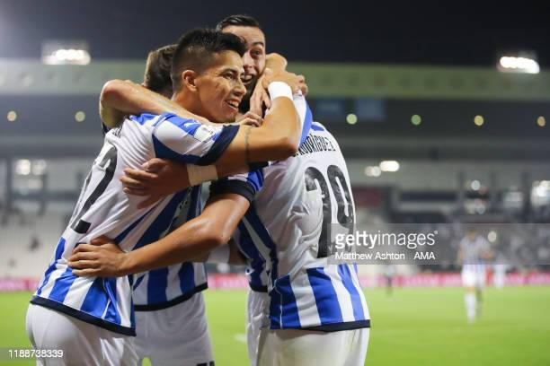 Carlos Rodriguez of CF Monterrey celebrates after scoring a goal to make it 31 during the FIFA Club World Cup 2nd round match between Monterrey and...