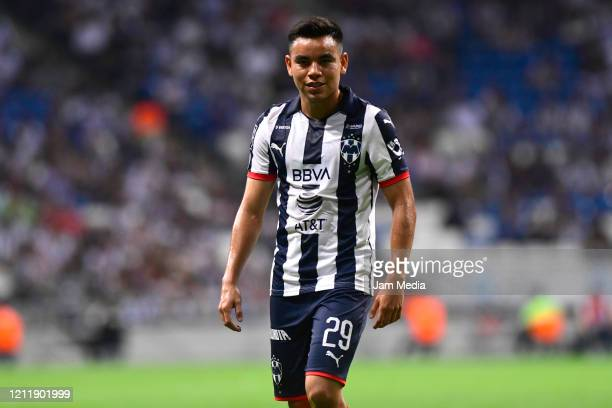 Carlos Rodriguez of Monterrey looks on during a match between Monterrey and Juarez as part of Copa MX at BBVA Bancomer Stadium on March 11, 2020 in...