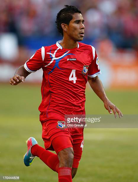 Carlos Rodriguez of Panama follows the play against USA during the FIFA 2014 World Cup Qualifier at CenturyLink Field on June 11 2013 in Seattle...