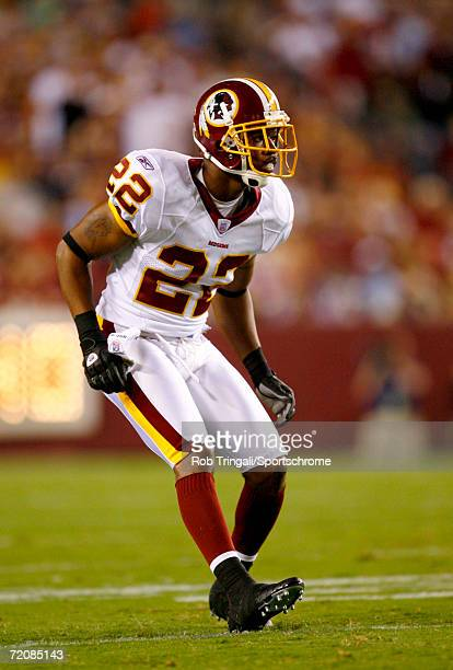 Carlos Rogers of the Washington Redskins defends against the Minnesota Vikings on September 11, 2006 at FedExField in Landover, Maryland. The Vikings...