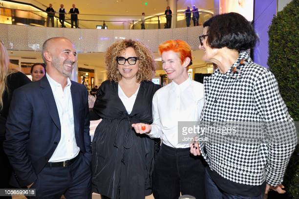 Carlos Rosario Ruth E CArter Sandy Powell and Alexandra Byrne attend Beverly Center's Grand Reveal Weekend Candidly Costumes with The Hollywood...