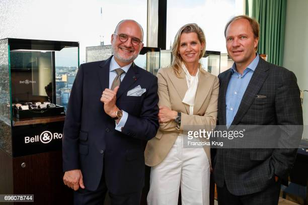 Carlos Rosillo founder and CEO of Bell Ross Claudia Gerlach and her husband Gregor Gerlach attend the Bell Ross Cocktail Party at Elbphilharmonie...