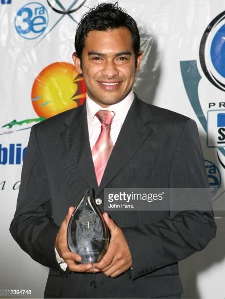 Carlos Ruiz during 2005 Premios Fox Sports Press Room at Jackie Gleason Theater in Miami Beach Florida United States