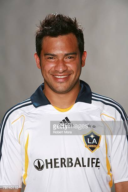 Carlos Ruiz of the Los Angeles Galaxy poses for his player headshot at Home Depot Center on February 12 2008 in Carson California