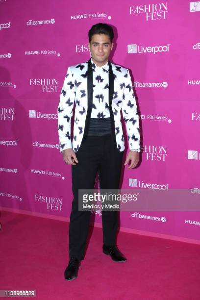 Carlos Said poses for photos during the Pink Carpet as part of the Spring/ Summer Liverpool Fashion Fest 2019 on March 28 2019 in Mexico City Mexico