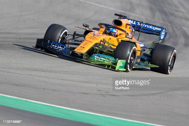 Carlos Sainz during the winter test days at the Circuit de Catalunya in Montmelo February 18 2019