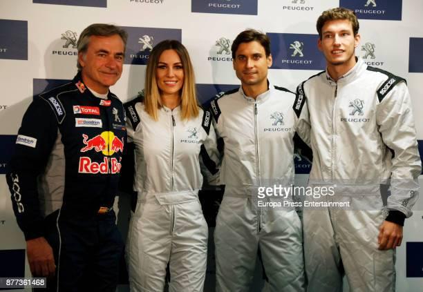 Carlos Sainz Edurne David Ferrer and Pablo Carreno attend Peugeot 308 Gti Experience at Jarama Circuit on November 21 2017 in Madrid Spain