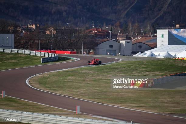 Carlos Sainz Jr drive the SF71H during Ferrari test days.
