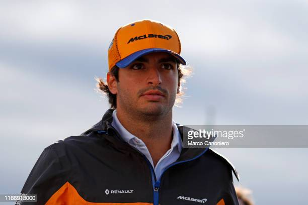 Carlos Sainz Jr of McLaren F1 Team in the paddock during the Formula One Grand Prix of Italy