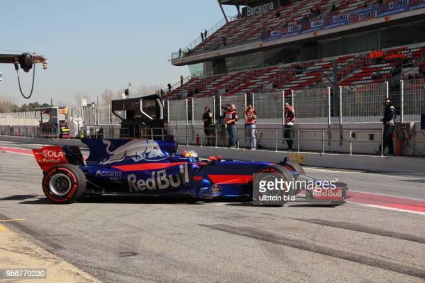 Carlos Sainz jun, Scuderia Toro Rosso, formula 1 GP, Test Barcelona, Spanien,