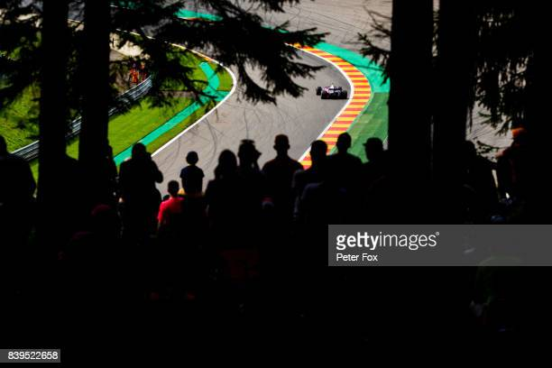 Carlos Sainz of Scuderia Toro Rosso and Spain during qualifying for the Formula One Grand Prix of Belgium at Circuit de SpaFrancorchamps on August 26...