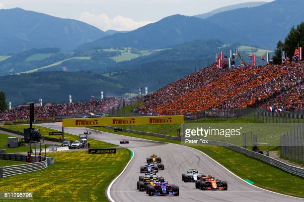 Carlos Sainz of Scuderia Toro Rosso and Spain during the Formula One Grand Prix of Austria at Red Bull Ring on July 9 2017 in Spielberg Austria