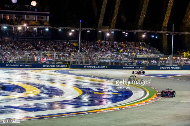 Carlos Sainz of Scuderia Toro Rosso and Spain during the Formula One Grand Prix of Singapore at Marina Bay Street Circuit on September 17 2017 in...