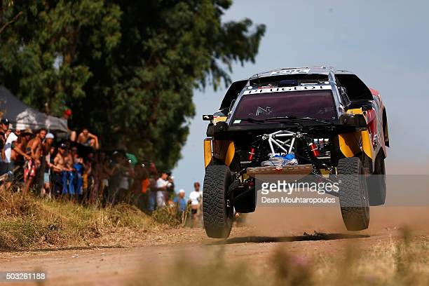 Carlos Sainz of Spain and Lucas Cruz of Spain in the PEUGEOT 2008 DKR for TEAM PEUGEOT TOTAL compete in the Dakar Rally Prologue on January 2 2016...