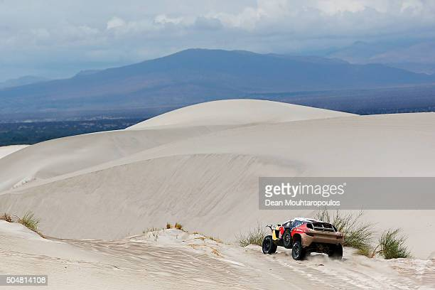 Carlos Sainz of Spain and Lucas Cruz of Spain in the PEUGEOT 2008 DKR for TEAM PEUGEOT TOTAL compete on day 11 stage ten between Belen and La Rioja...