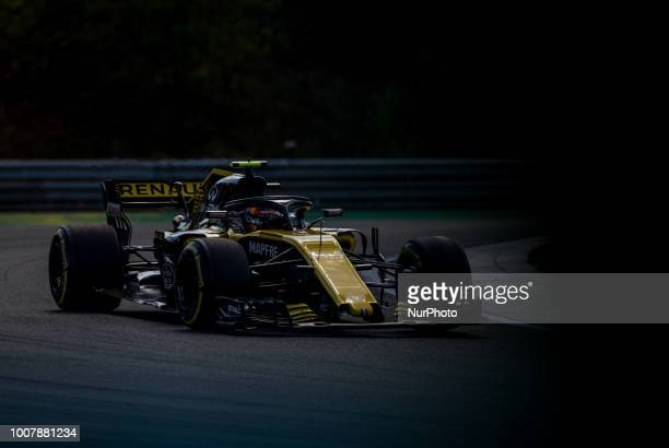Carlos Sainz of Spain and Renault F1 Team driver goes during the race at Hungarian Rolex Formula 1 Grand Prix on Jul 29 2018 in Mogyoród Hungary