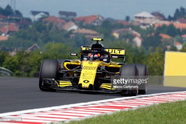 HUNGARORING BUDAPEST HUNGARY Carlos Sainz of Spain and Renault on track during practice for the Formula One Formula One Grand Prix of Hungary