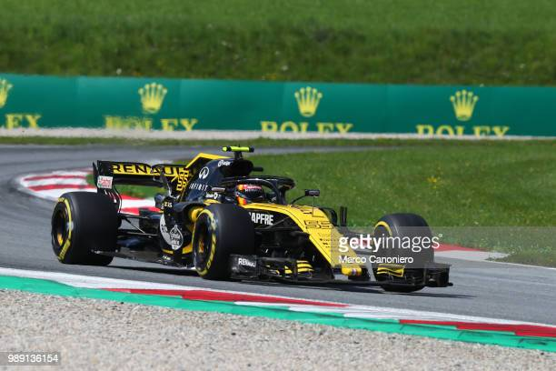 Carlos Sainz of Spain and Renault on track during the Formula One Grand Prix of Austria