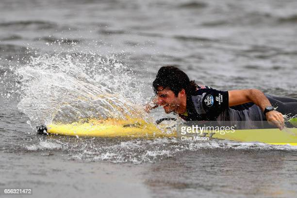 Carlos Sainz of Spain and Scuderia Toro Rosso at the Casio Lifesaver Challenge during previews to the Australian Formula One Grand Prix at Albert...