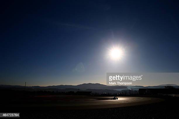 Carlos Sainz of Spain and Scuderia Toro Rosso drives during day three of the final Formula One Winter Testing at Circuit de Catalunya on February 28...