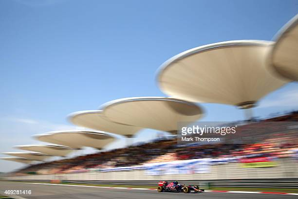 Carlos Sainz of Spain and Scuderia Toro Rosso drives during final practice for the Formula One Grand Prix of China at Shanghai International Circuit...